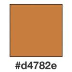 Dagens brunorange nyans, d4782e.