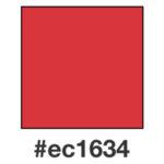 Dagens klarröda nyans, ec1634.
