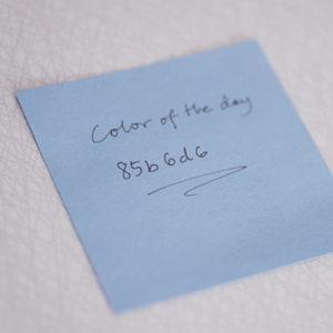 Det gäller att komma ihåg färgkombinationen.