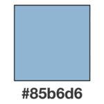 Dagens gråblå nyans, 85b6d6.