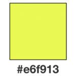 Dagens neongula, e6f913.